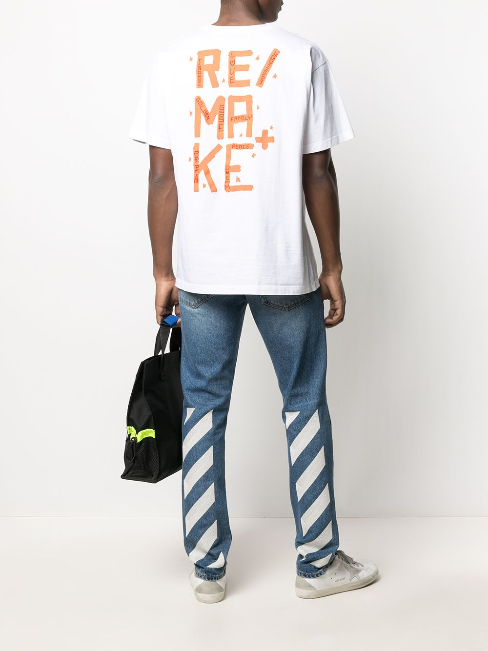Picture of Golden Goose | T-Shirt Artu' Over Remake Values Big On Back/Water