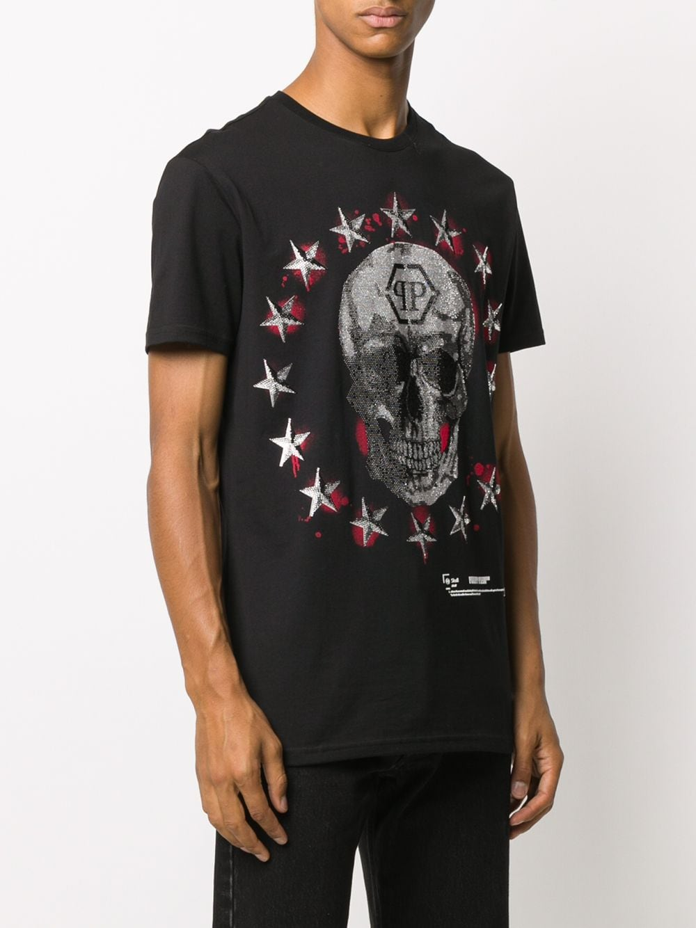 Picture of Philipp Plein | T-Shirt Stars And Skull