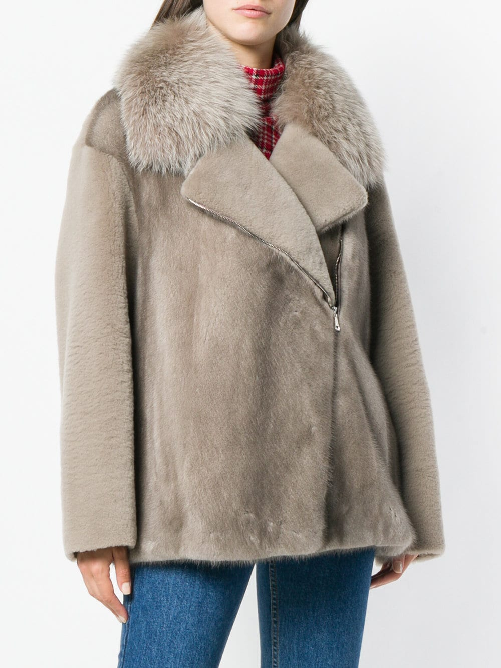 Picture of Blancha | Over Mink Jacket