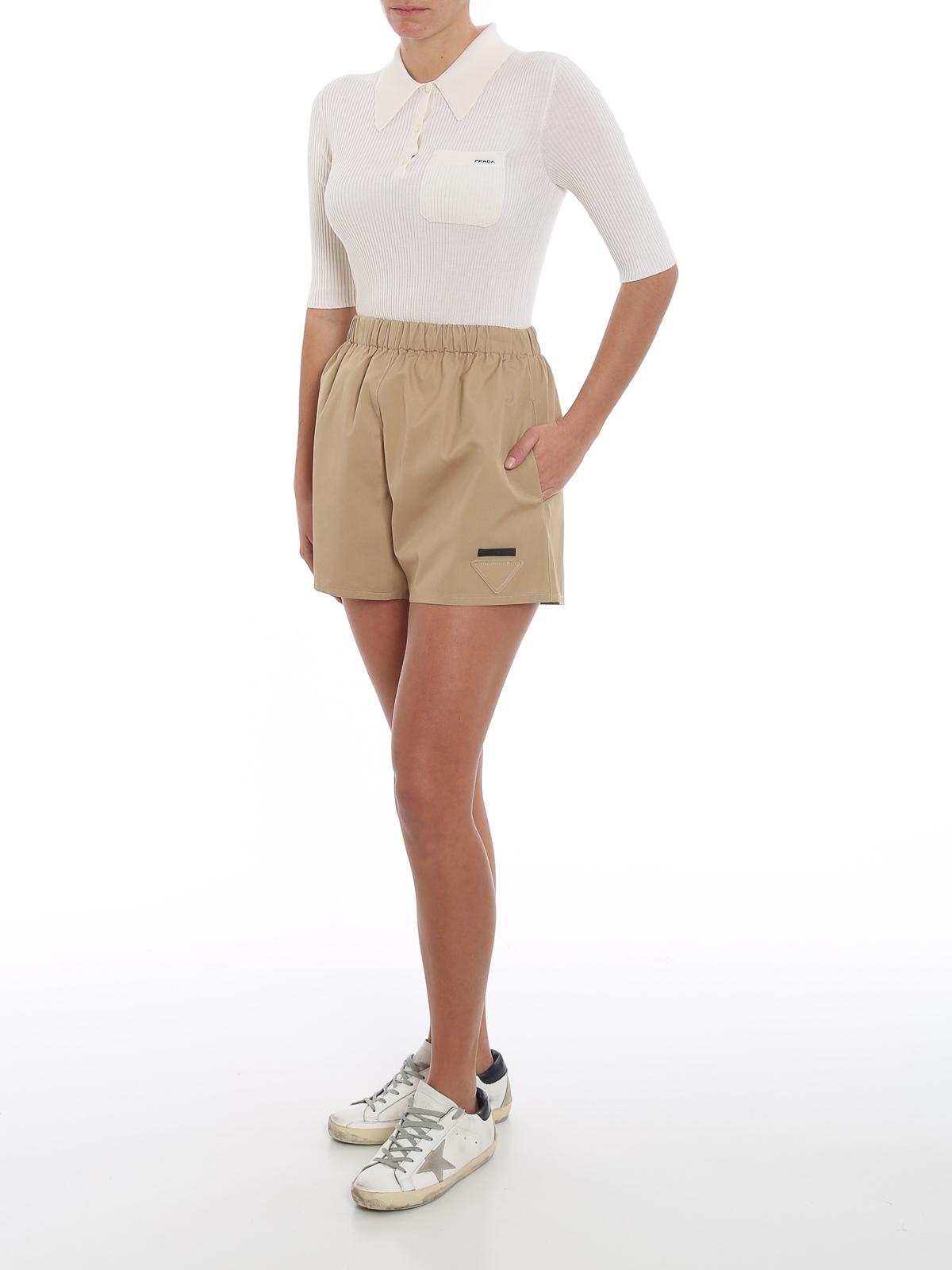 Picture of Prada | Shorts Popeline
