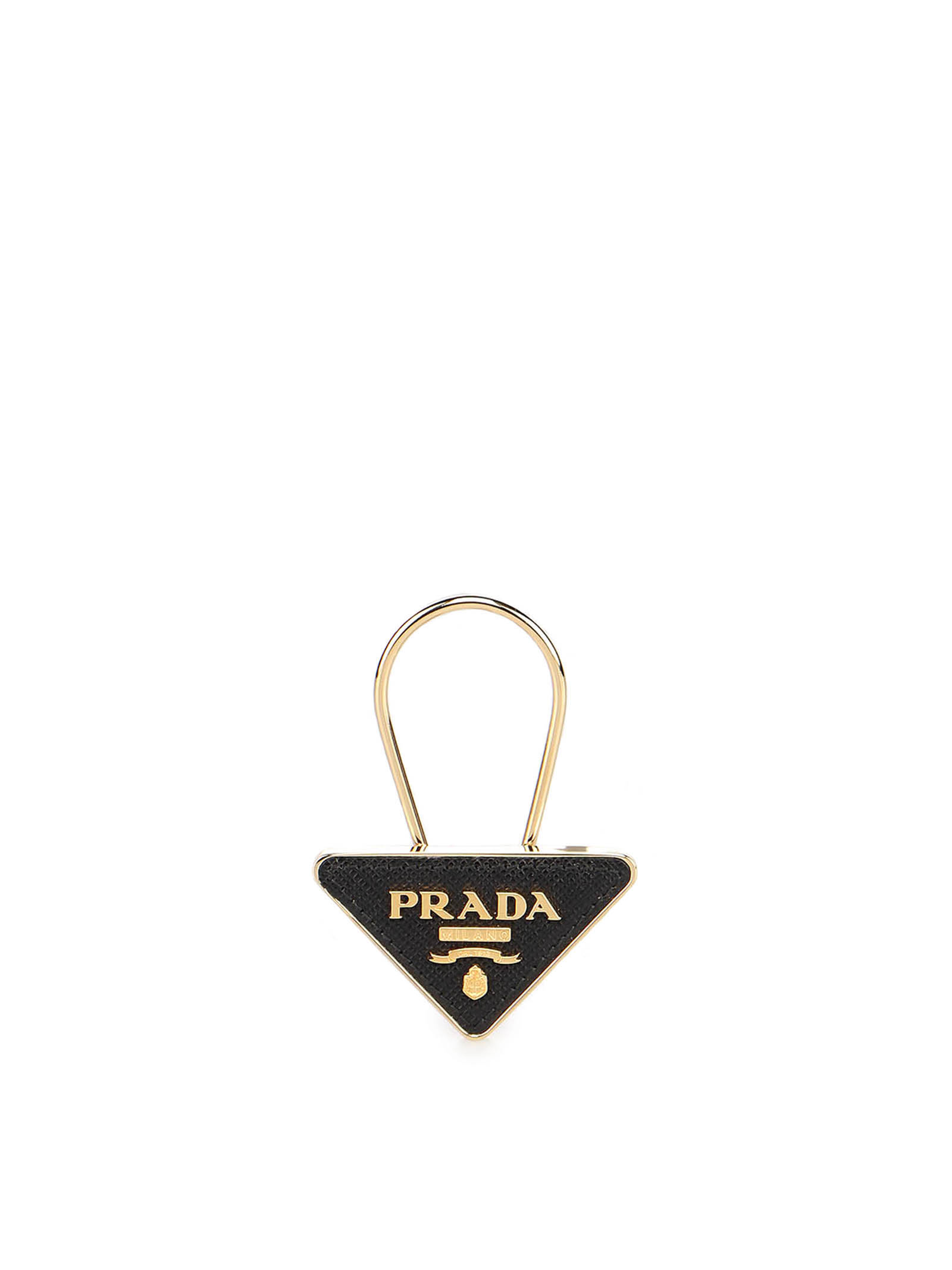 Picture of Prada | Saffiano Leather And Metal Keychain