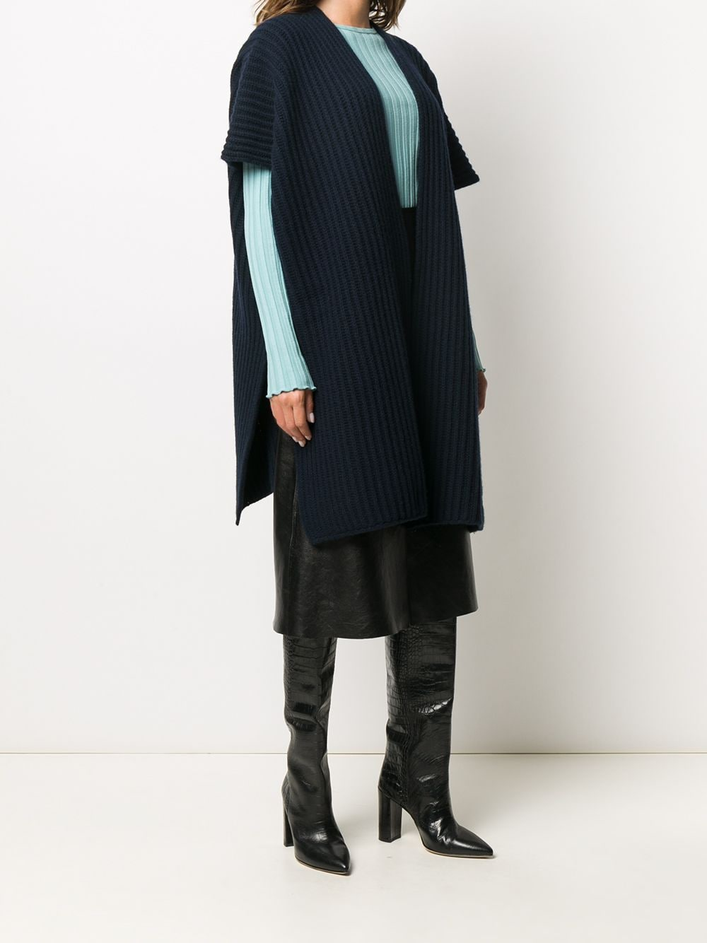 Picture of Valentino | Poncho Wool Cashemre Sweater