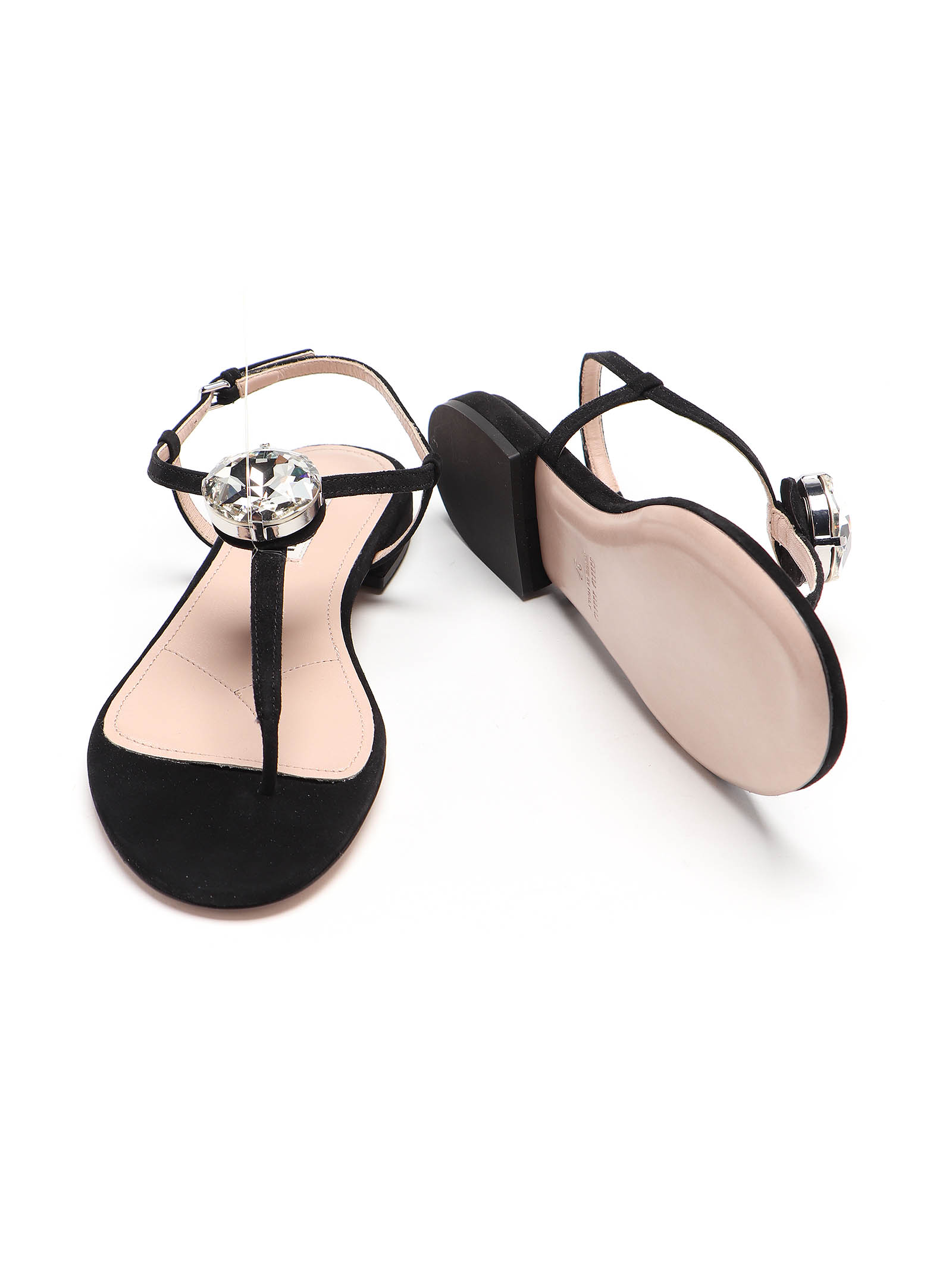 Picture of Miu Miu | Thong Sandal Suede