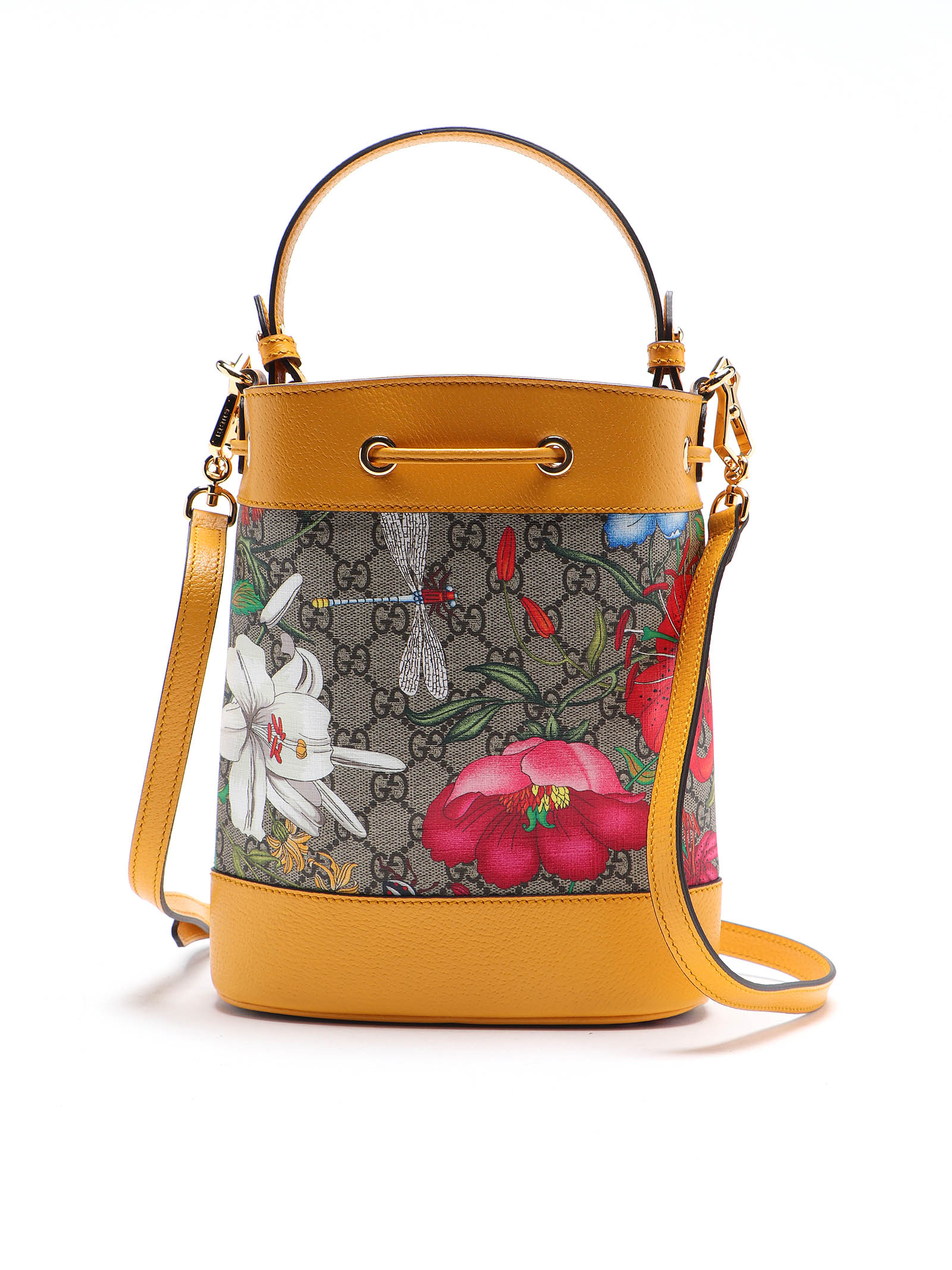 Picture of Gucci | Ophidia Flora Bucket Bag
