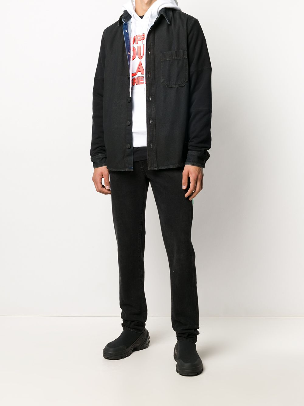 Immagine di Off White | Stenc Jers Sleeve Denim Shirt