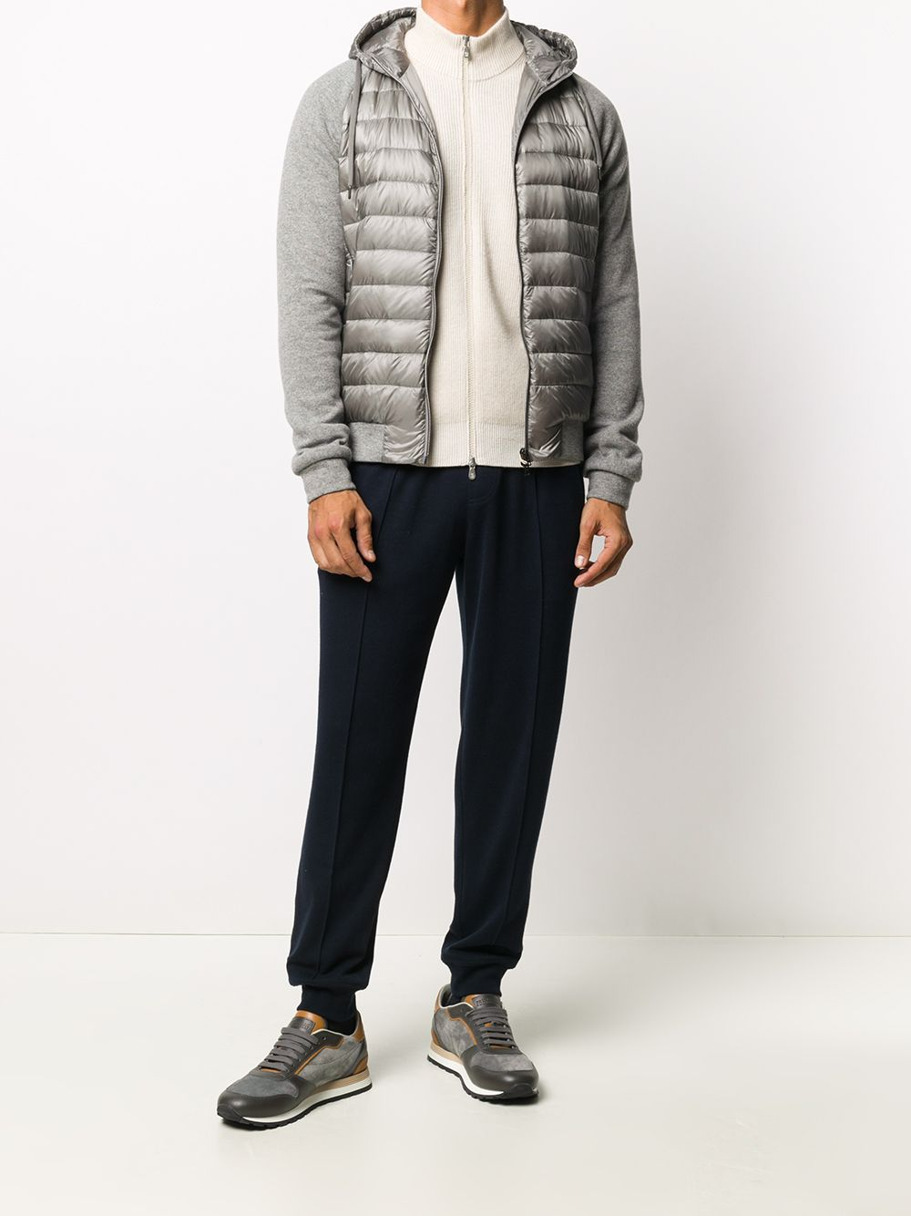 Picture of Herno | Down Bomber Jacket With Wool