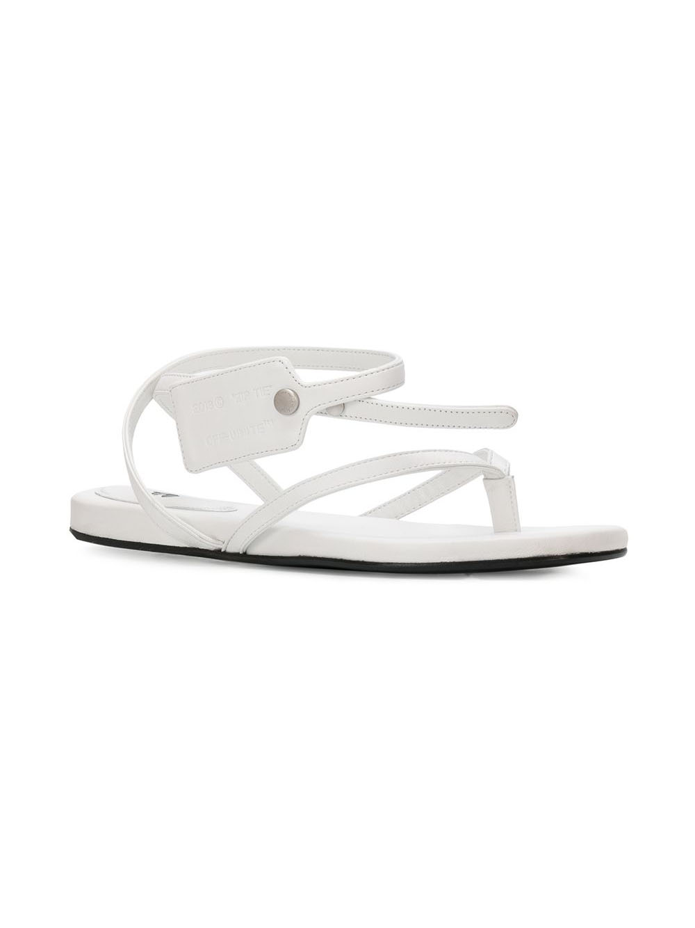 Picture of Off White | Ziptie Flat Sandal
