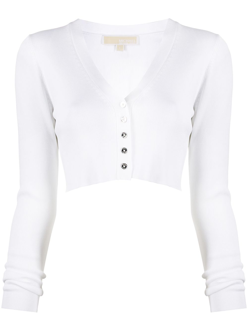 Picture of Michael Kors | Rib Vnk Crop Cardigan