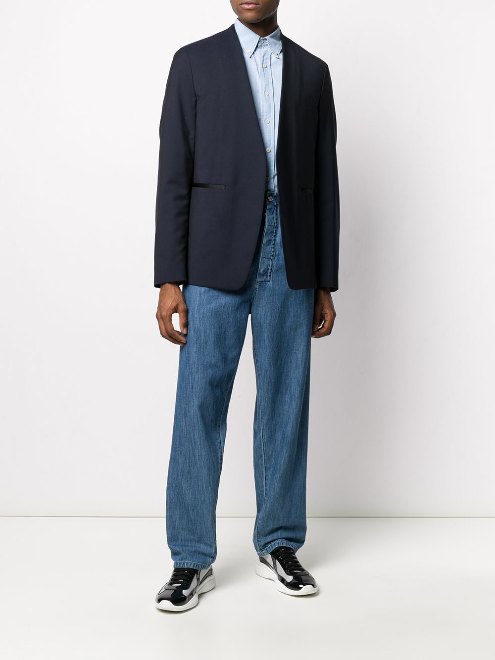 Picture of Prada   Shirt Chambray Bleached