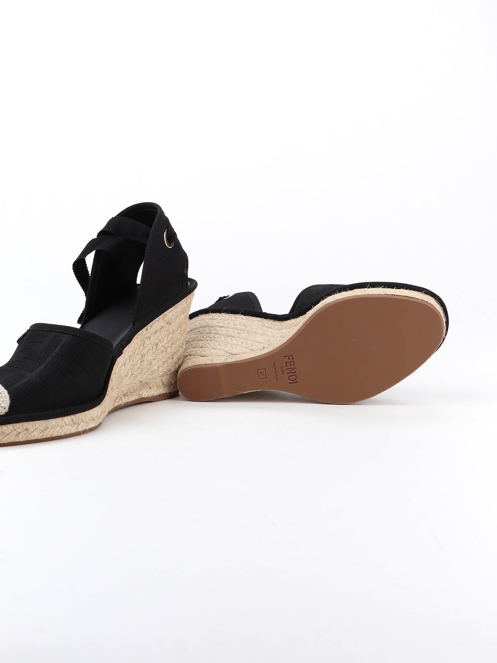 Picture of Fendi | Wedge Canvas Ff