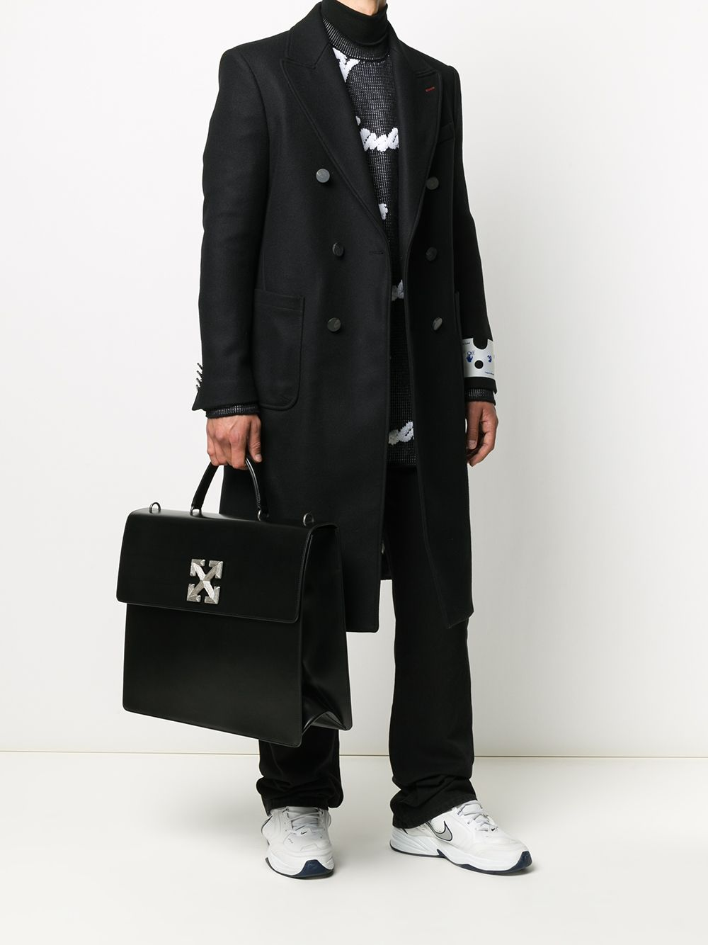 Picture of Off White | Ow Logo Long Coat