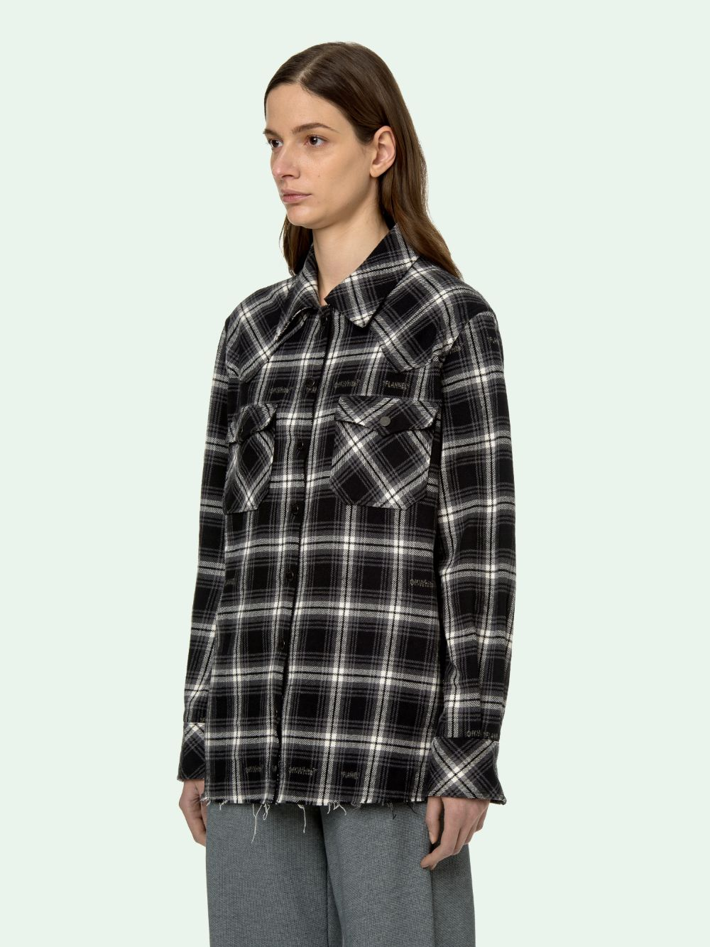 Picture of Off White | Check Boxy Shirt