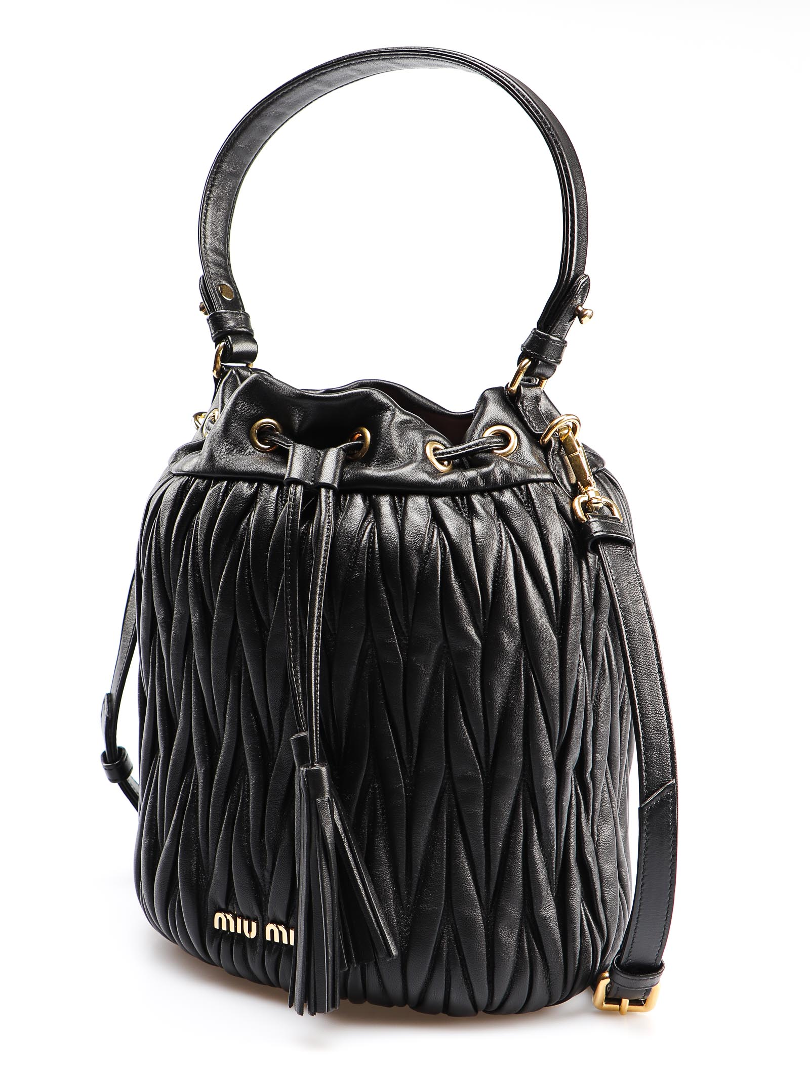 Picture of Miu Miu | Bucket Bag Matelasse`
