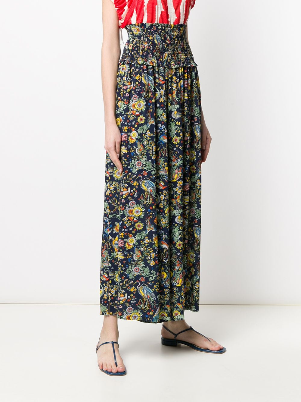 Picture of Tory Burch | Smocked Beach Pant