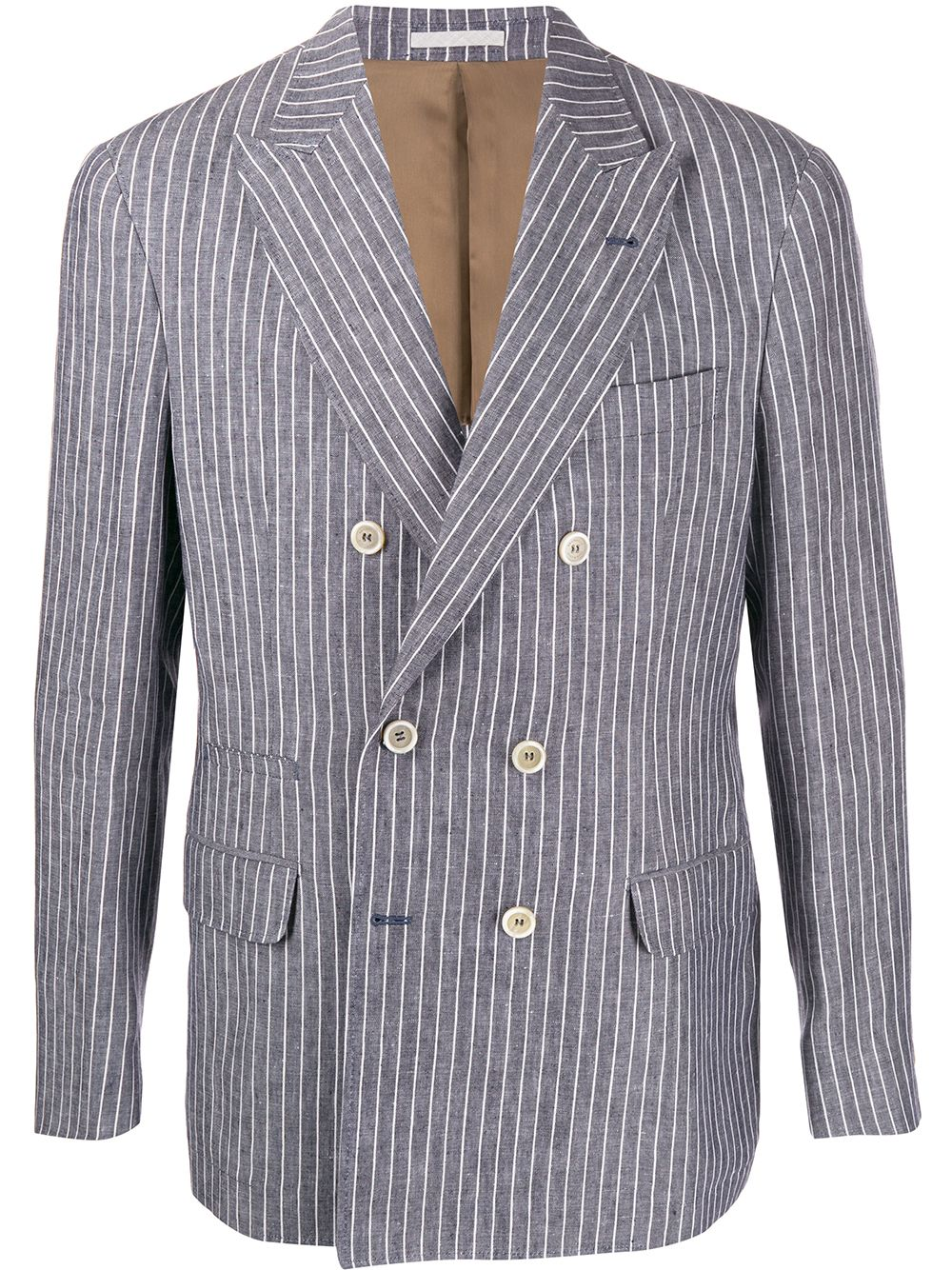 Immagine di Brunello Cucinelli | Double Breasted Pinstripe Blazer