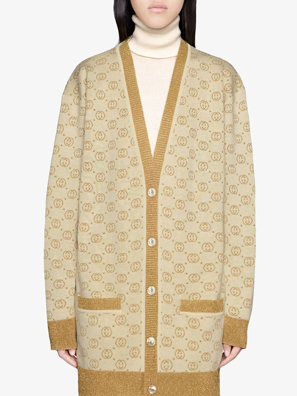Picture of Gucci | Cardigan Gg Jacquard