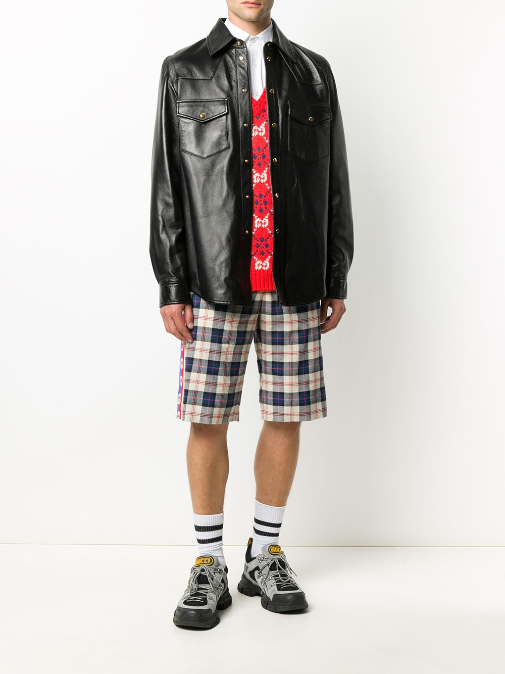 Picture of Gucci | Check Short Pant
