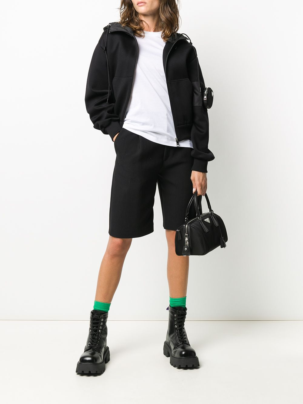 Immagine di Prada | Cotton + Re-Nylon Hoodie