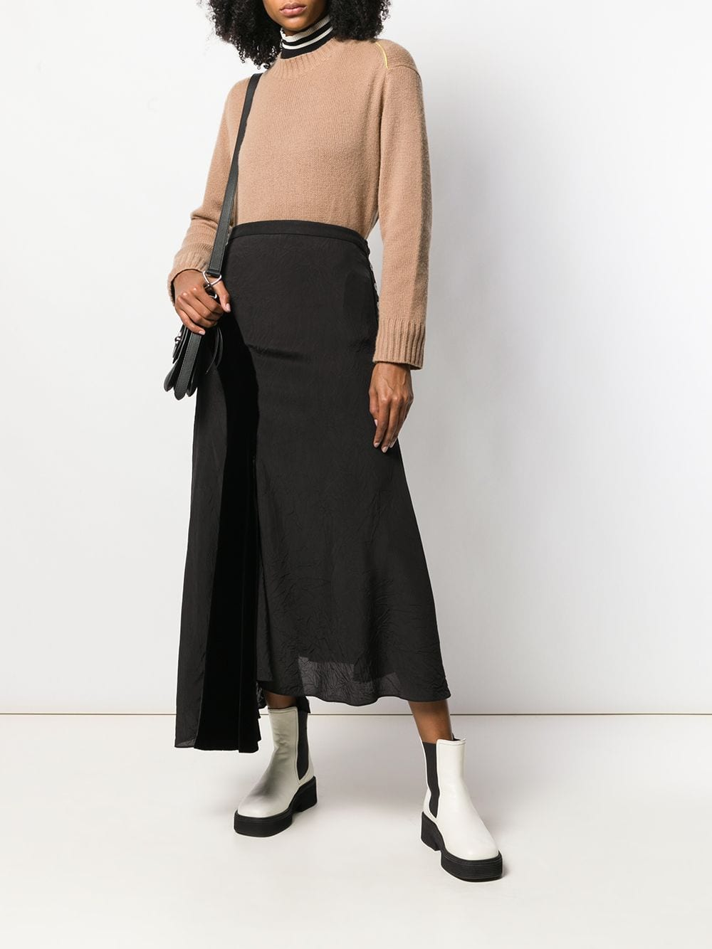Picture of Loewe | Velvet Patch Skirt