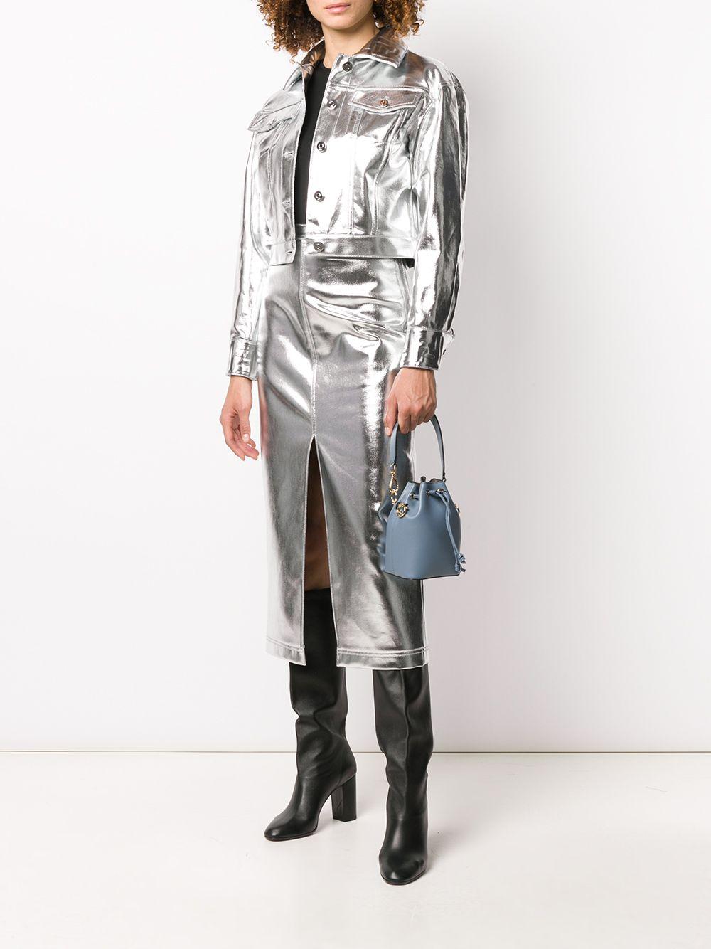 Immagine di Fendi | Silver Denim Skirt
