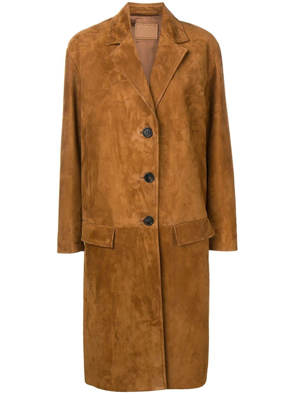 Picture of Prada | Coat Suede