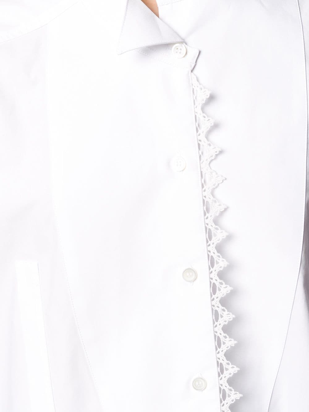 Picture of Loewe | Lace Trim Asymmetric Shirt