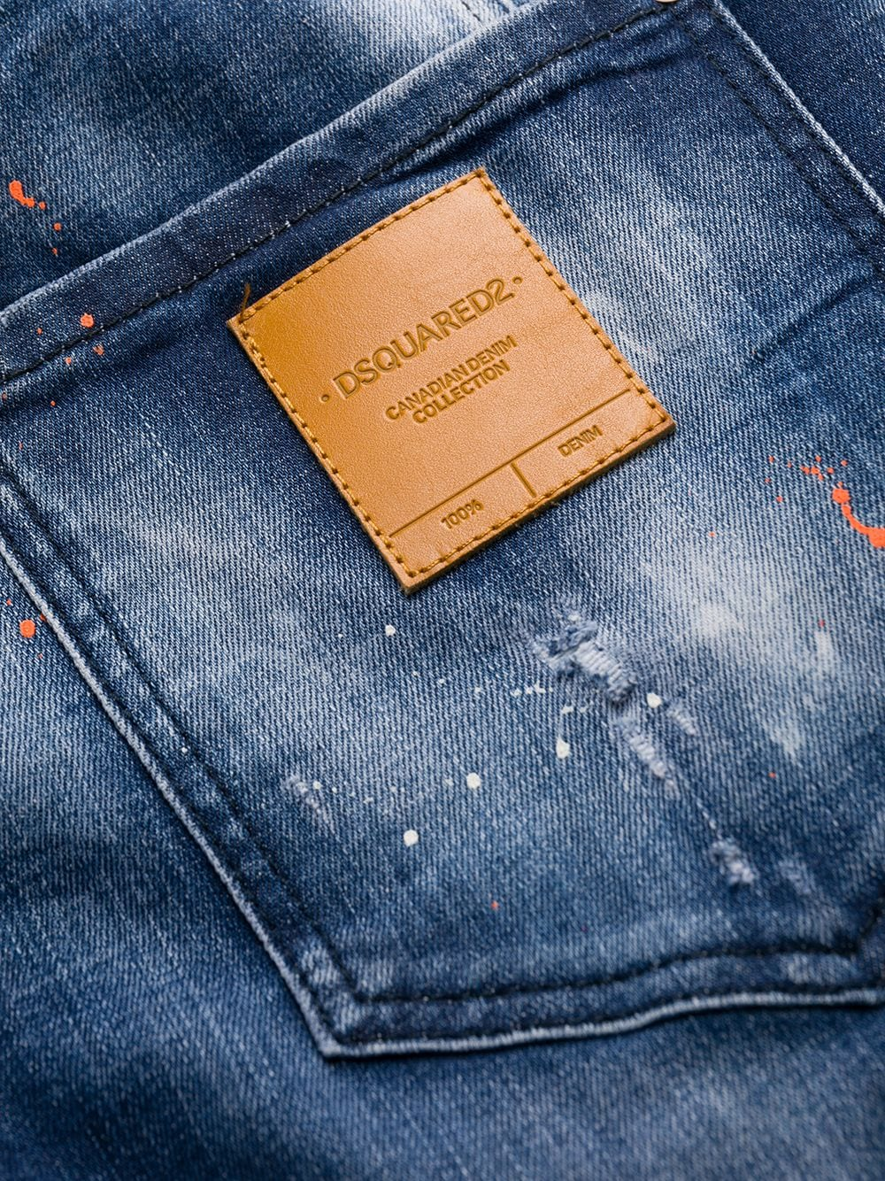 Immagine di Dsquared2 | Tidy Biker Jean Orange Spot