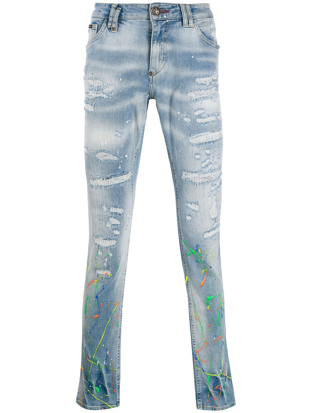 Picture of Philipp Plein | Slim Fit Painted Jeans