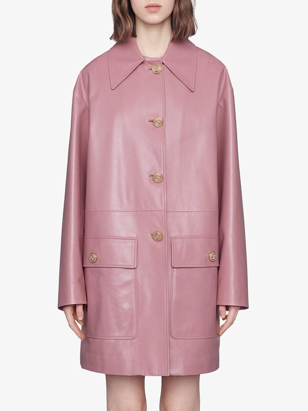 Picture of Gucci | Leather Coat