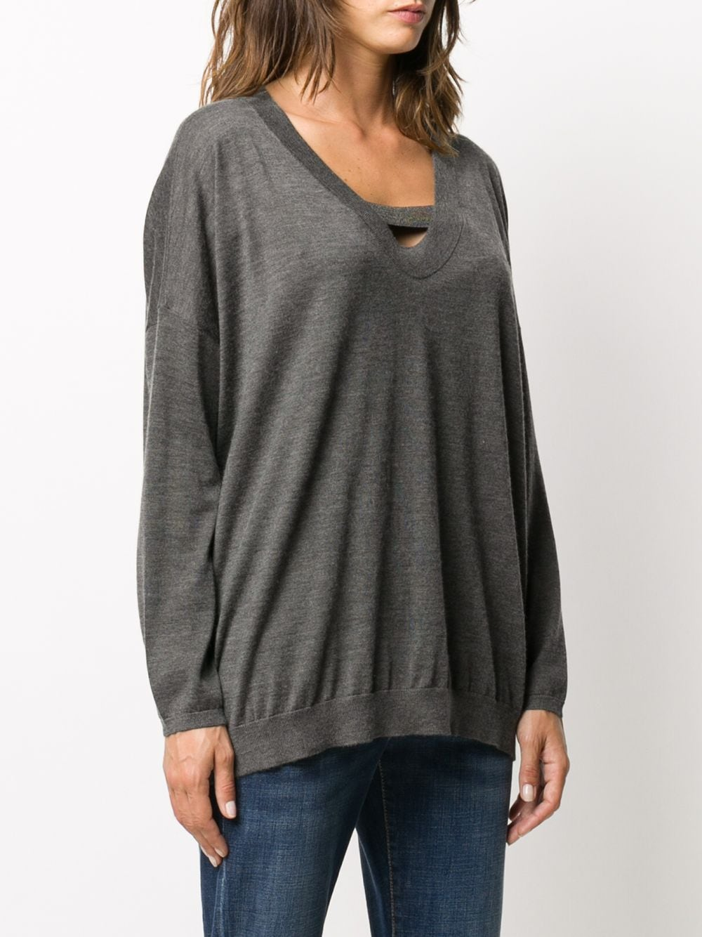 Picture of Brunello Cucinelli | V Neck Pull