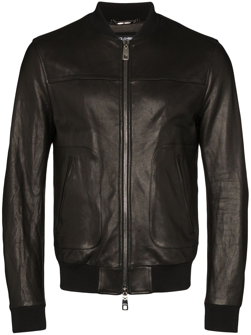 Picture of Dolce & Gabbana | Leather Bomber Jacket