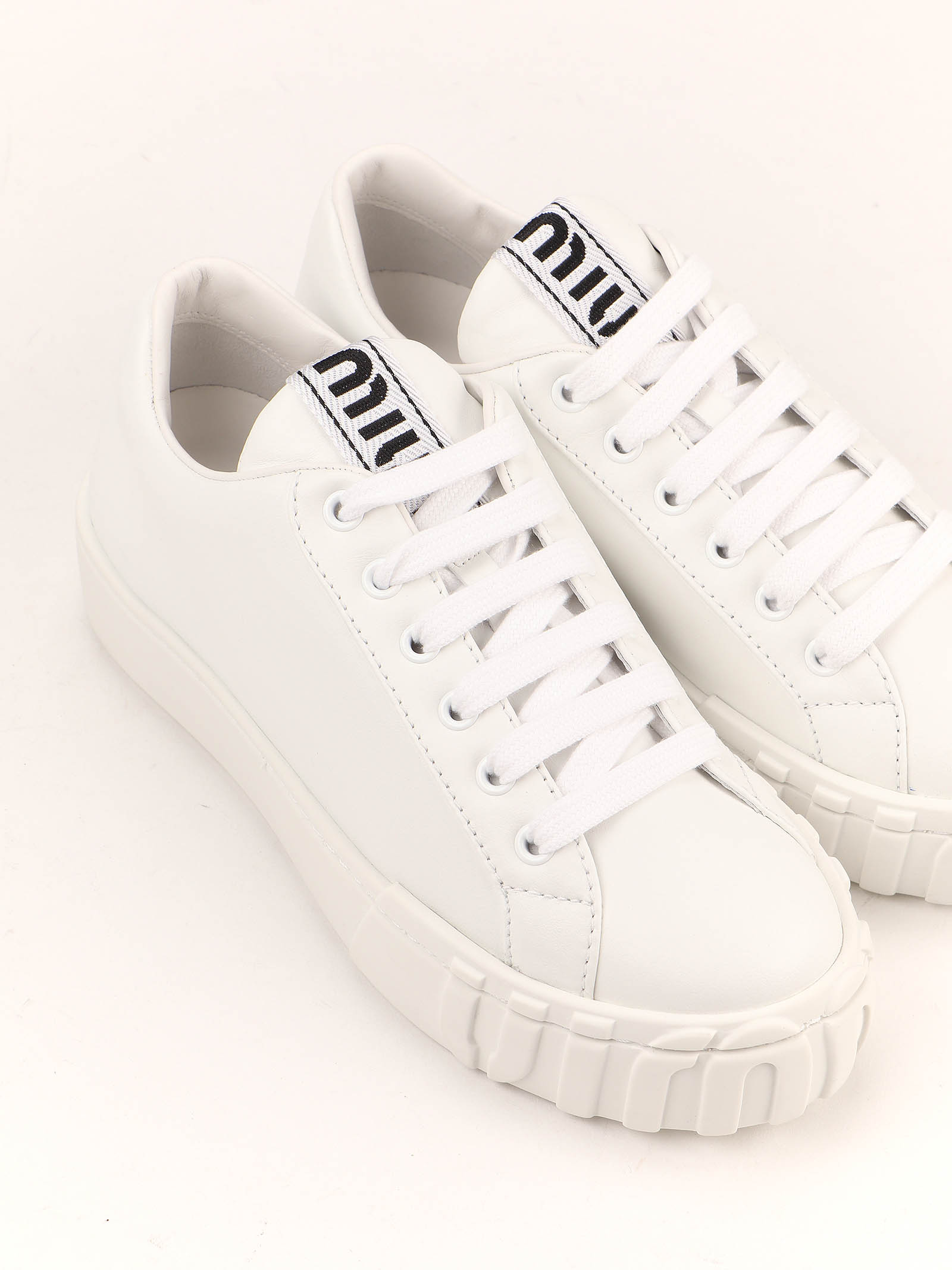 Picture of Miu Miu | Lace Up Shoe