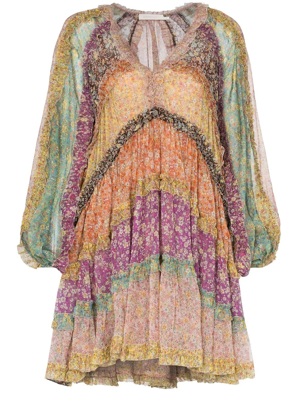 Picture of Zimmermann | Carnaby Frill Billow Dress