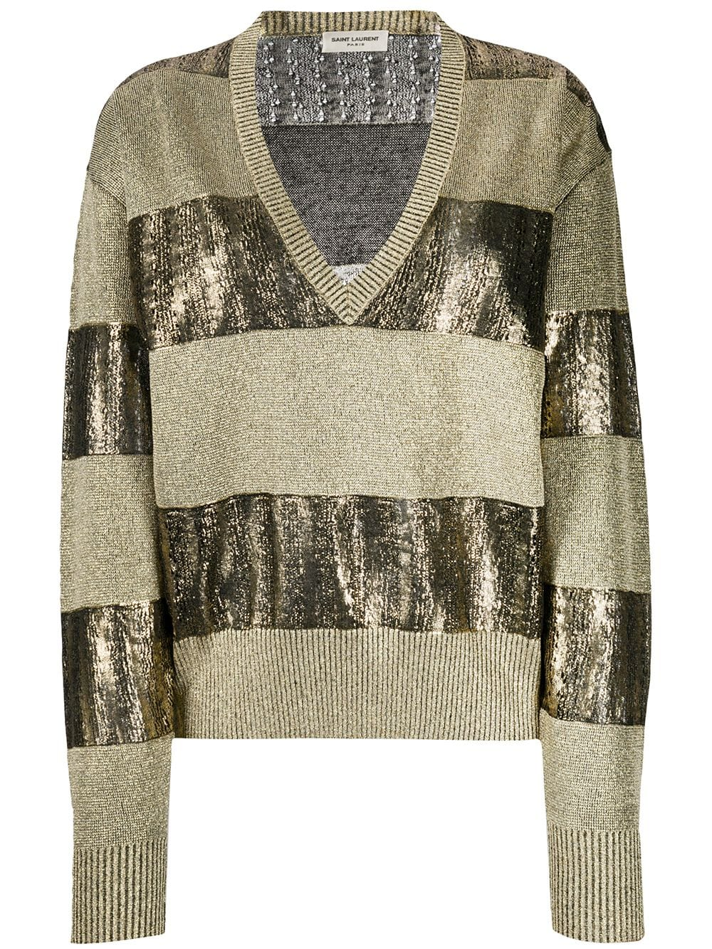 Picture of Saint Laurent | Loose Deep Vneck Sweater