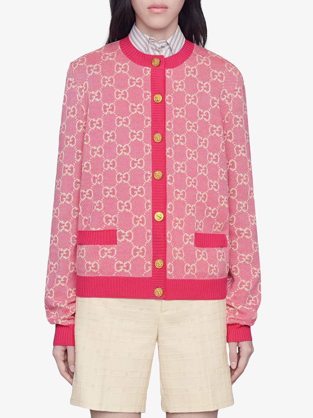 Picture of Gucci | Crew/Nk Cardigan
