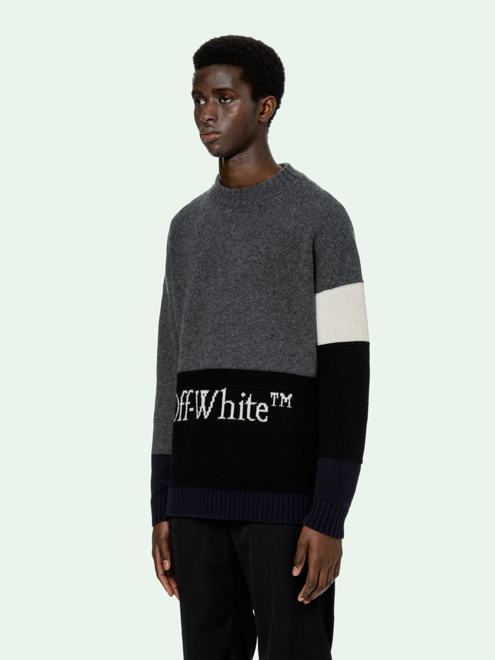 Picture of Off White | Color Block Off Crewneck