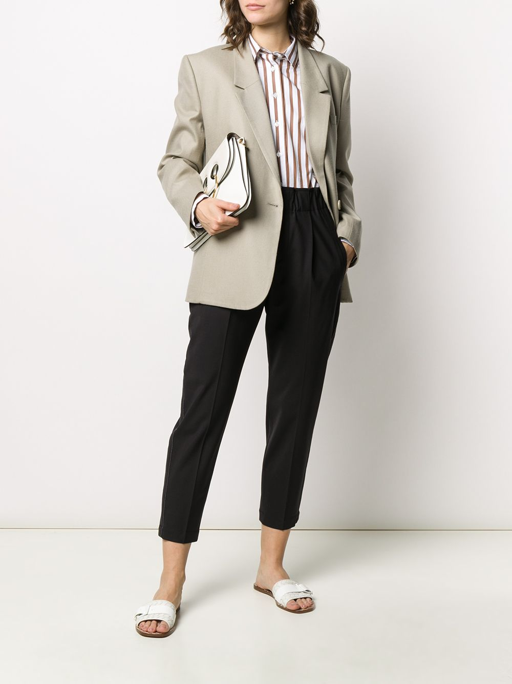 Picture of Brunello Cucinelli | High-Waist Trousers
