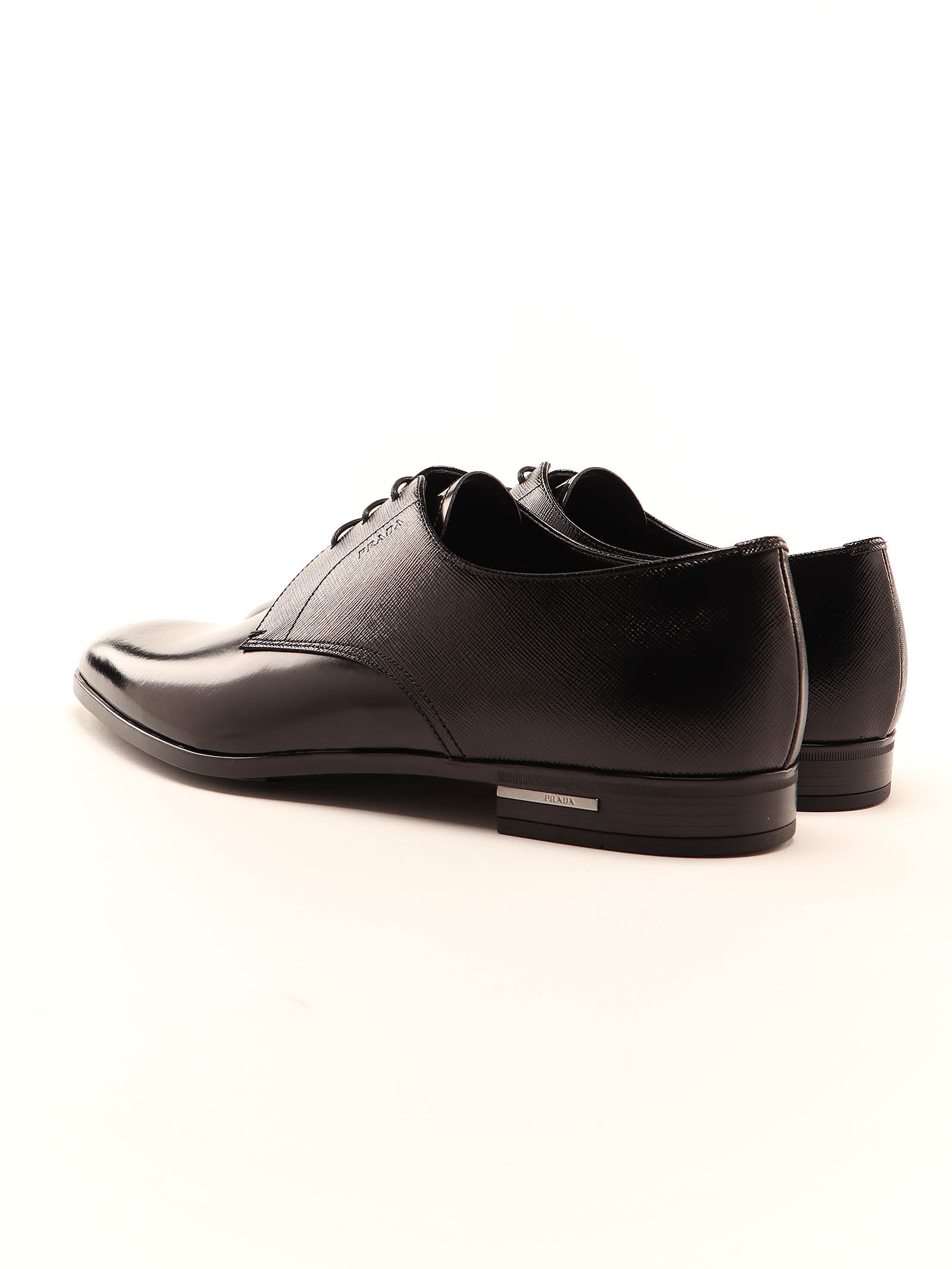 Picture of Prada | Mixed Fabric Derby Shoes