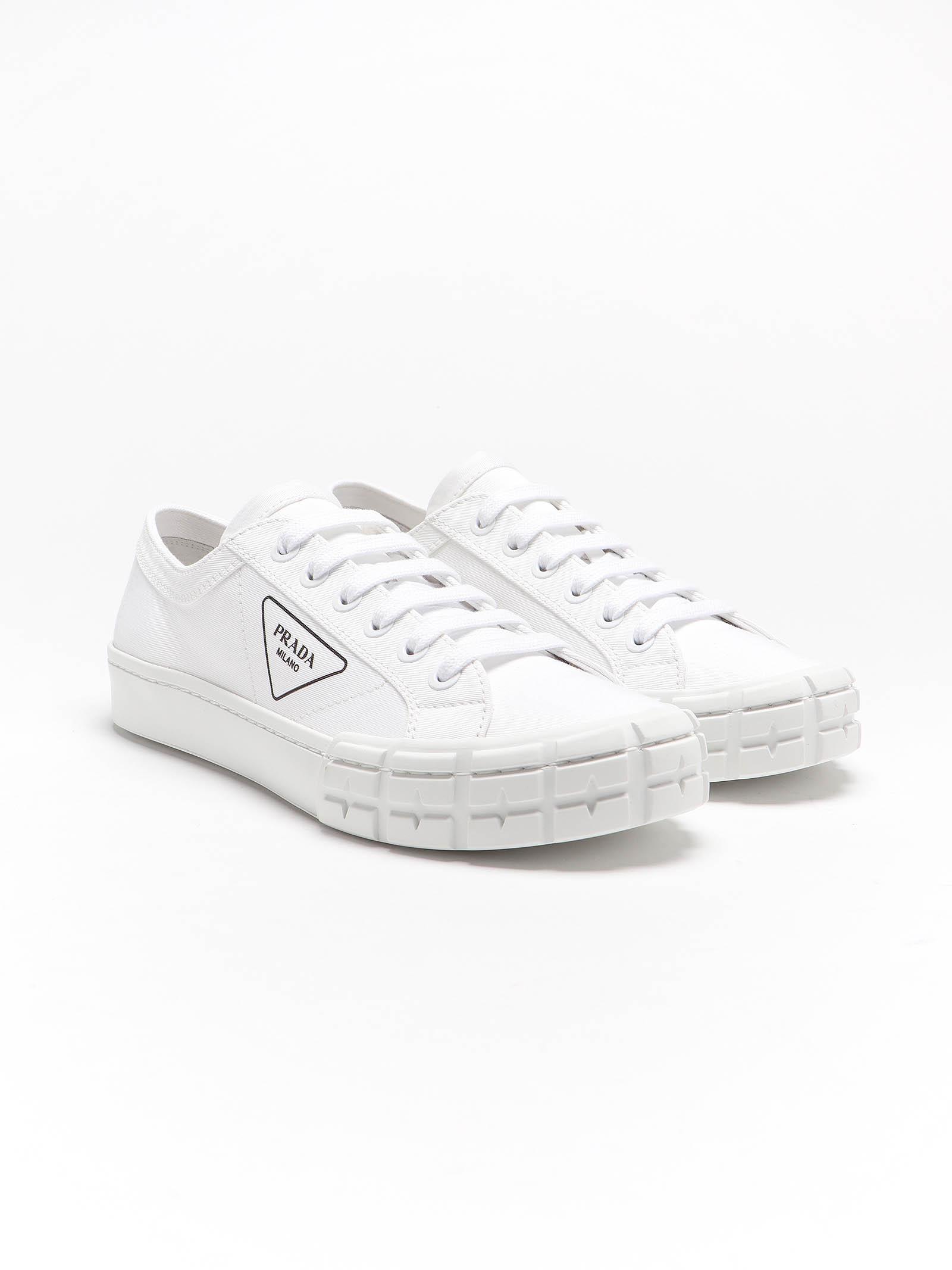 Picture of Prada | Gabardine Wheel Sneakers